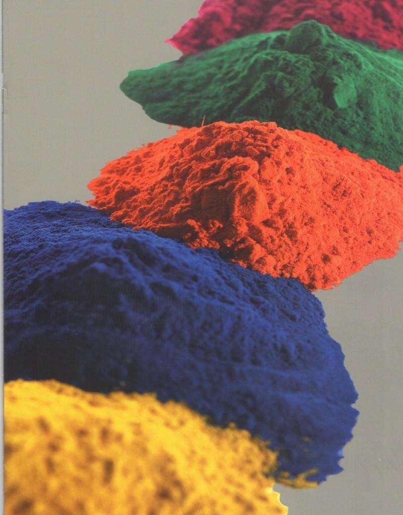 окраска порошковой краской, полимеризация