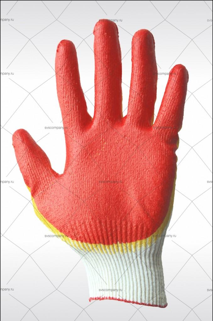 перчатки защитные с двойным латексным обливом