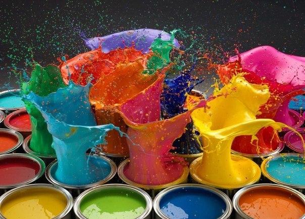 Как сделать яркие цвета красками